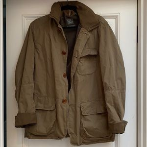 J Crew mens trapper jacket in muted green